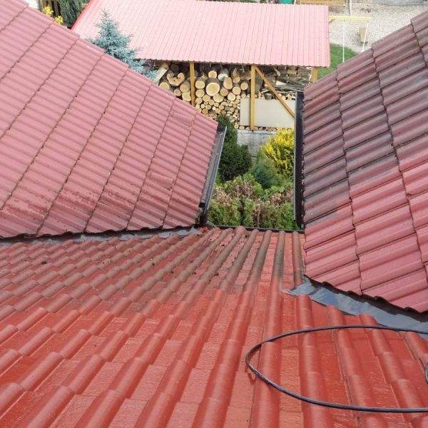 Čištění střechy a nátěr fasády